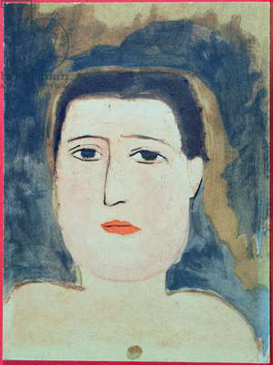 Portrait of Guillaume Apollinaire (1880-1918) early 20th century (colour litho)