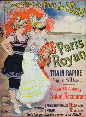 Advertisement for the Paris-Royan railway line, c.1908 (colour litho)