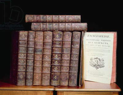 The 'Encyclopedia' of Denis Diderot (1713-84) and Jean le Rond d'Alembert (1717-83), 1751-72 (leather, paper and ink)