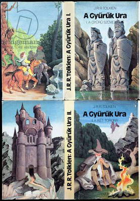 Cover illustrations for 'The Lord of the Rings' by J.R.R. Tolkien (1892-1973), translated into Hungarian by Arpad Goncz (b.1922), 1981 (colour litho)