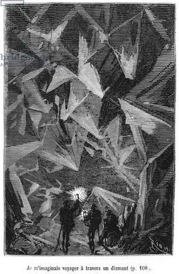 Illustration from 'Voyage au centre de la terre' by Jules Verne (1828-1905), engraved by Pannemaker, published by J.Hetzel (engraving) (b/w photo)