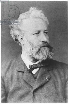 Portrait of Jules Verne (1828-1905) late 19th century (b/w photo)