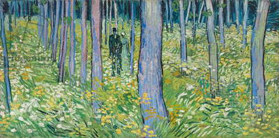 Undergrowth with Two Figures, 1890 (oil on canvas)