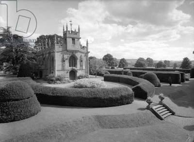 The west end of the chapel, Sudeley Castle, from 'Country Houses of the Cotswolds' (b/w photo)