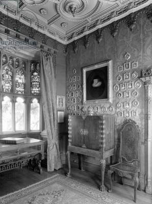 Katherine Parr's bedroom, Sudeley Castle, Gloucestershire, from 'Country Houses of the Cotswolds' (b/w photo)