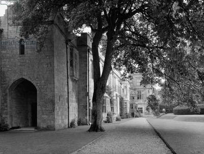 The east range, Sudeley Castle, from 'Country Houses of the Cotswolds' (b/w photo)