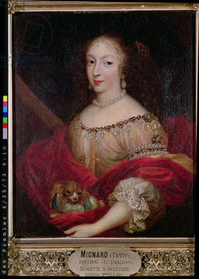Henriette d'Angleterre (1644-70) Duchess of Orleans (oil on panel)