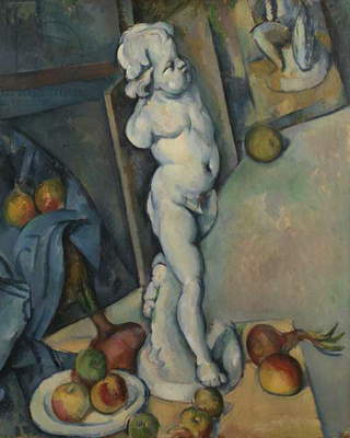 Still life with plaster cast, c.1894 (oil on paper)