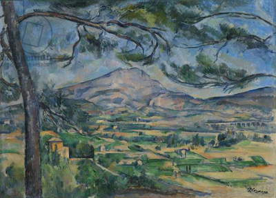 Montagne Sainte-Victoire, c.1887 (oil on canvas)