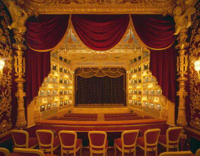 Interior View of Teatro La Fenice (photo)
