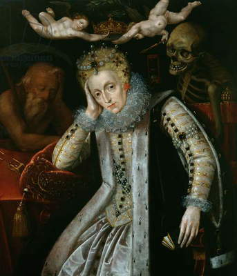 Queen Elizabeth I (1538-1603) in Old Age, c.1610 (oil on panel)
