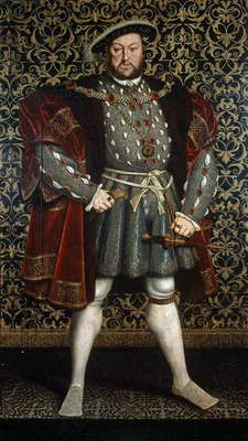 Portrait of King Henry VIII, after 1557 (oil on wood panel)