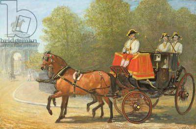 Returning from Her Majesty's Drawing Room, Hyde Park Corner, 1853 (oil on canvas)