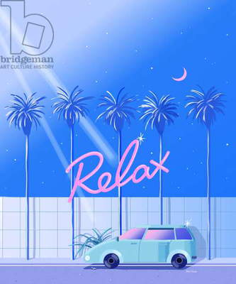 Relax (blue), 2015 (digital illustration)