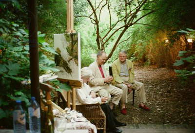 Auerbach and Hockney, Summer Evening (photo)