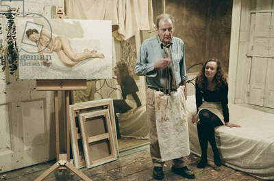 Lucian Freud at his studio with Perienne Christian, 2011 (photo)