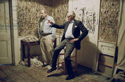 Lucian Freud and the Duke of Beaufort, 2008 (photo)
