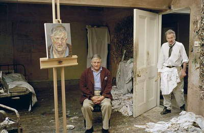 Lucian Freud and David Hockney, 2002 (photo)