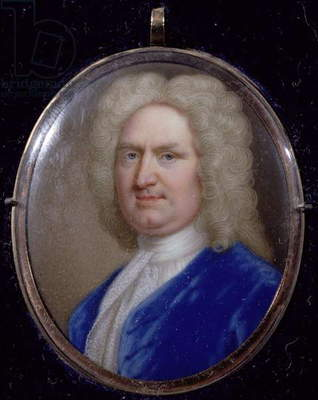 Miniature of George Frederick Handel (1685-1759) (enamel on copper)