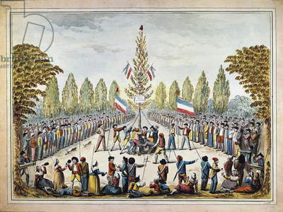 Tree of liberty, print, French Revolution, France, 18th century