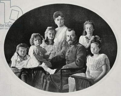 Portrait of the Russian imperial family of Nicholas II Romanov (1868-1918) and Aleksandra Foedorovna (1872-1918)