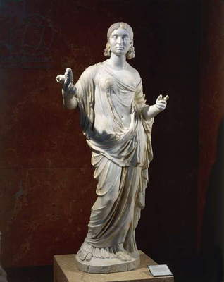 Statue of female figure portrayed as Ceres