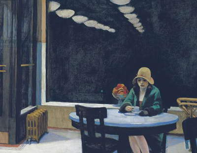 Automat, 1927, by Edward Hopper (1882-1967), oil on canvas, 71x91 cm. United States of America, 20th century.