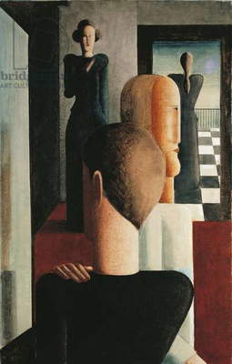 Four Figures in a Room, 1925 (oil on canvas)