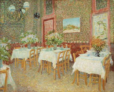 Interior of restaurant, 1887, by Vincent van Gogh (1853-1890), oil on canvas, 45x56 cm
