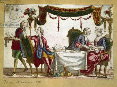 French meal, 18th century