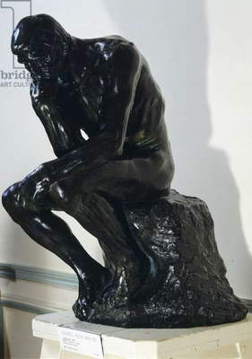 The Thinker, 1880, by Auguste Rodin (1840-1917), bronze sculpture.