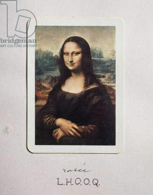 Mona Lisa, LHOOQ shaved, by Marcel Duchamp (1887-1968). France, 20th century.