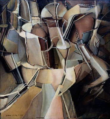 Transition of Virgin into a Bride, 1912, by Marcel Duchamp (1887-1968), oil on canvas, 59x53 cm. France, 20th century.