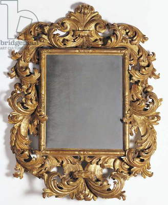 Mirror, carved and gilded lime tree wood, Italy, 17th century