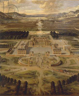 View of Versailles Palace and its gardens by Pierre Patel, 1668