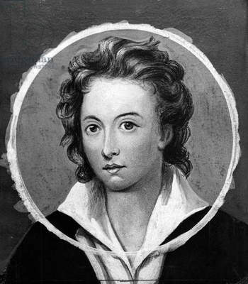 Portrait of Percy Bysshe Shelley (Field Place, 1792-Viareggio, 1822), English poet, engraving