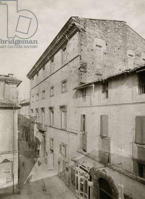 View of Palazzo Spada from Via Roma in Terni, Umbria, Italy, photograph from Istituto Italiano d'Arti Grafiche, 1908-1909