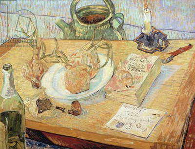 Still life with onions, 1889, by Vincent van Gogh (1853-1890)