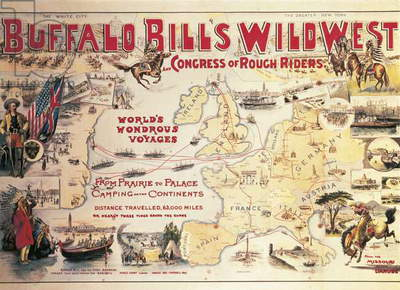 Buffalo Bill's Wild West and Congress of Rough Riders, poster, 1892