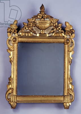 Louis XVI-style mirror, carved and gilded wood, France, 18th century
