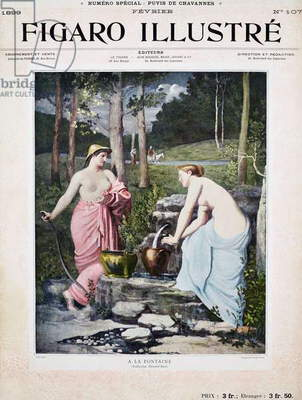 At fountain, by Pierre Puvis de Chavannes, cover of Figaro illustre, Year XVII, No 107, February, 1899