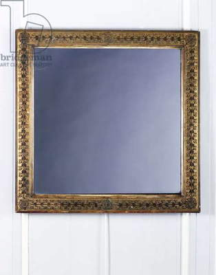 Empire-style square mirror, gilded wood, France, 19th century