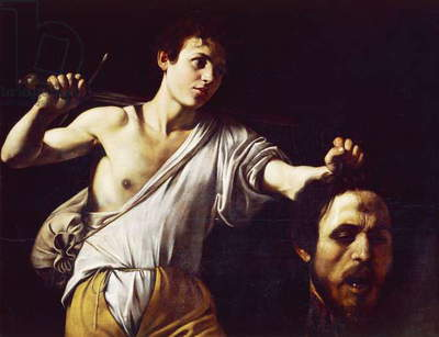 David with Head of Goliath by Michelangelo Merisi, known as Caravaggio (1571-1610), Oil on canvas, 90,5 x 116,5cm, 1607
