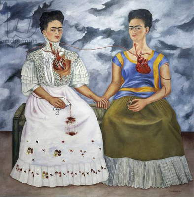 The two Fridas, 1939, by Frida Kahlo (1907-1954), oil on canvas, 172x173 cm. Mexico, 20th century.