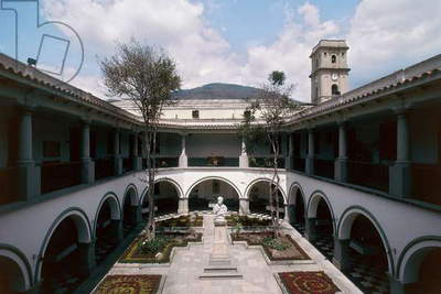 Courtyard of University of Andes, Merida, Venezuela