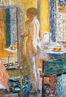Naked in the mirror, 1931, by Pierre Bonnard (1867-1947), oil on canvas. France, 20th century.