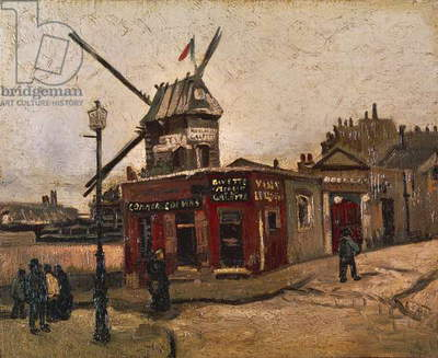 Moulin de la Galette, by Vincent van Gogh (1853-1890)