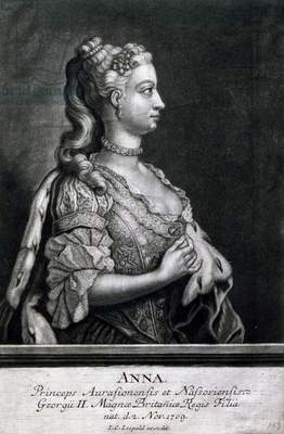 Portrait of Anne of Hanover (London, 1709-1759), Princess Royal and Princess of Orange