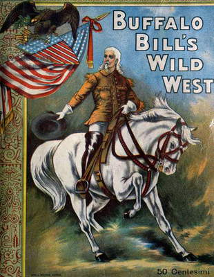 Buffalo Bill (William Frederick Cody, 1846-1917), cover of official program for Buffalo Bill circus, sold during shows in 1906, Italy, 20th century