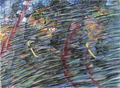 States of Mind (I), Those who Go, 1911 (oil on canvas) 71 x 95,5 cm